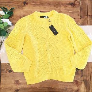 Vero Moda Yellow Cableknit Chunky Wishi Sweater